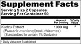 BUY 1 GET 2 FREE Kudzu Root Standardized Extract 1000mg 100 Capsules