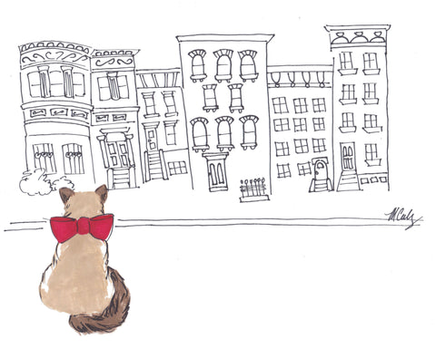 Brownstone Buddy (Print) 5x7""