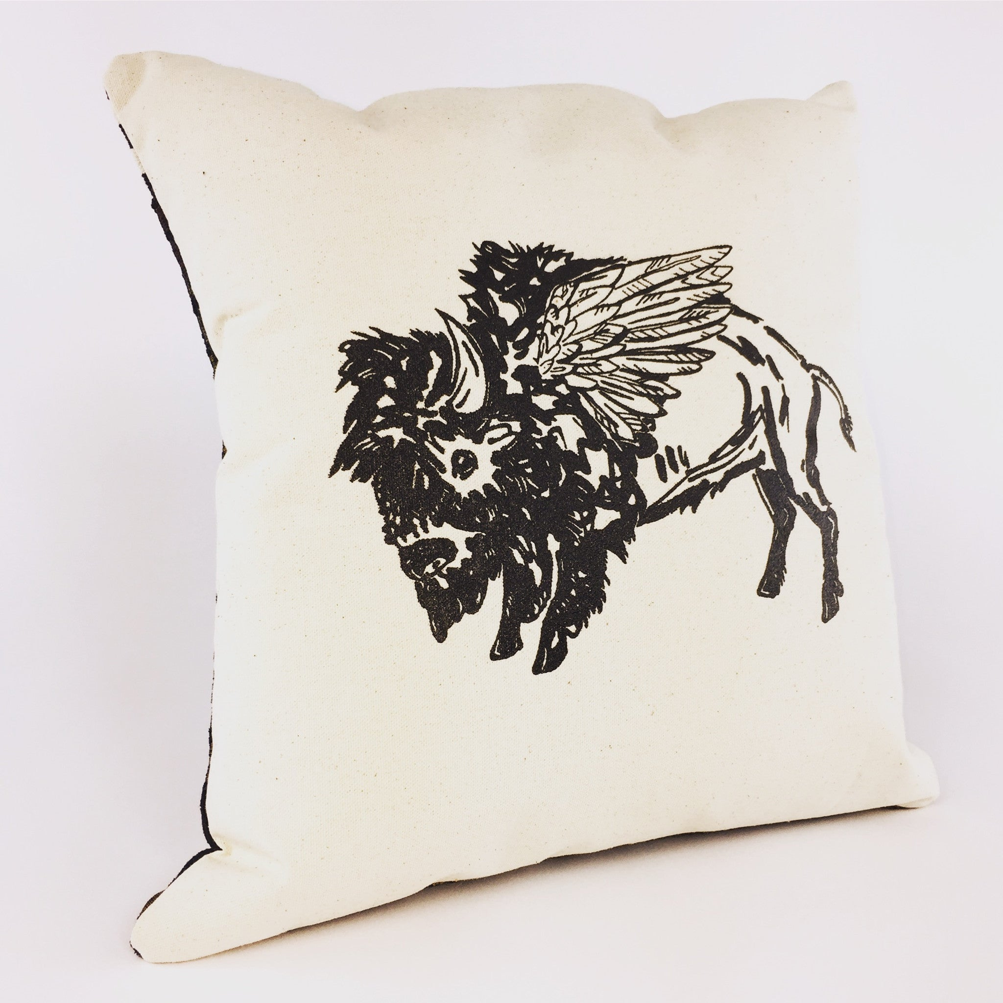 Winged Buffalo Pillow