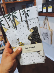 Tea Towel Cotton - S'more Bears