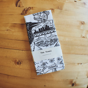 Tea Towel Cotton - Edmonton Crest