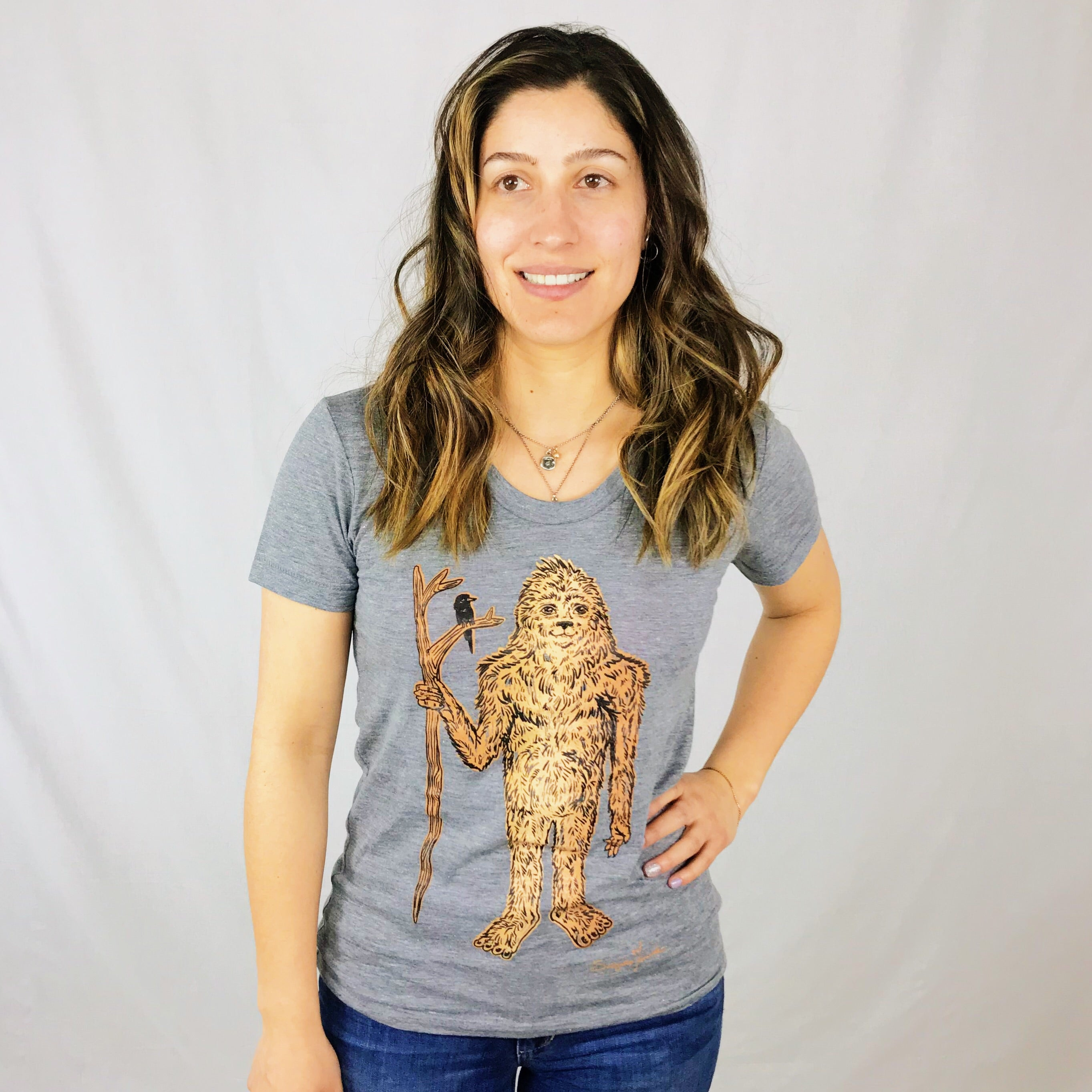 Ladies Crew Neck - Sasquatch