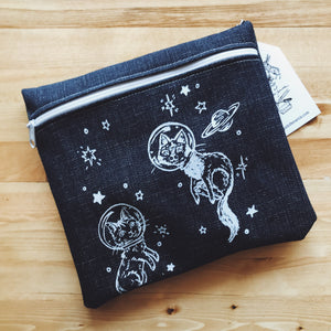 Medium Pencil Case - Space Cats
