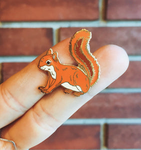 Enamel Pin - Red Squirrel