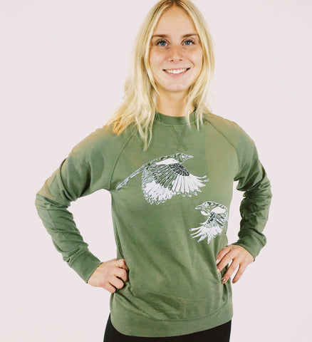 Ladies Crew Neck - Polar Bear Express