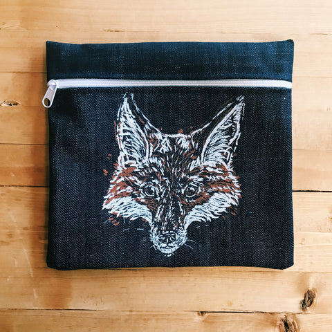 Medium Pencil Case -Leon Fox