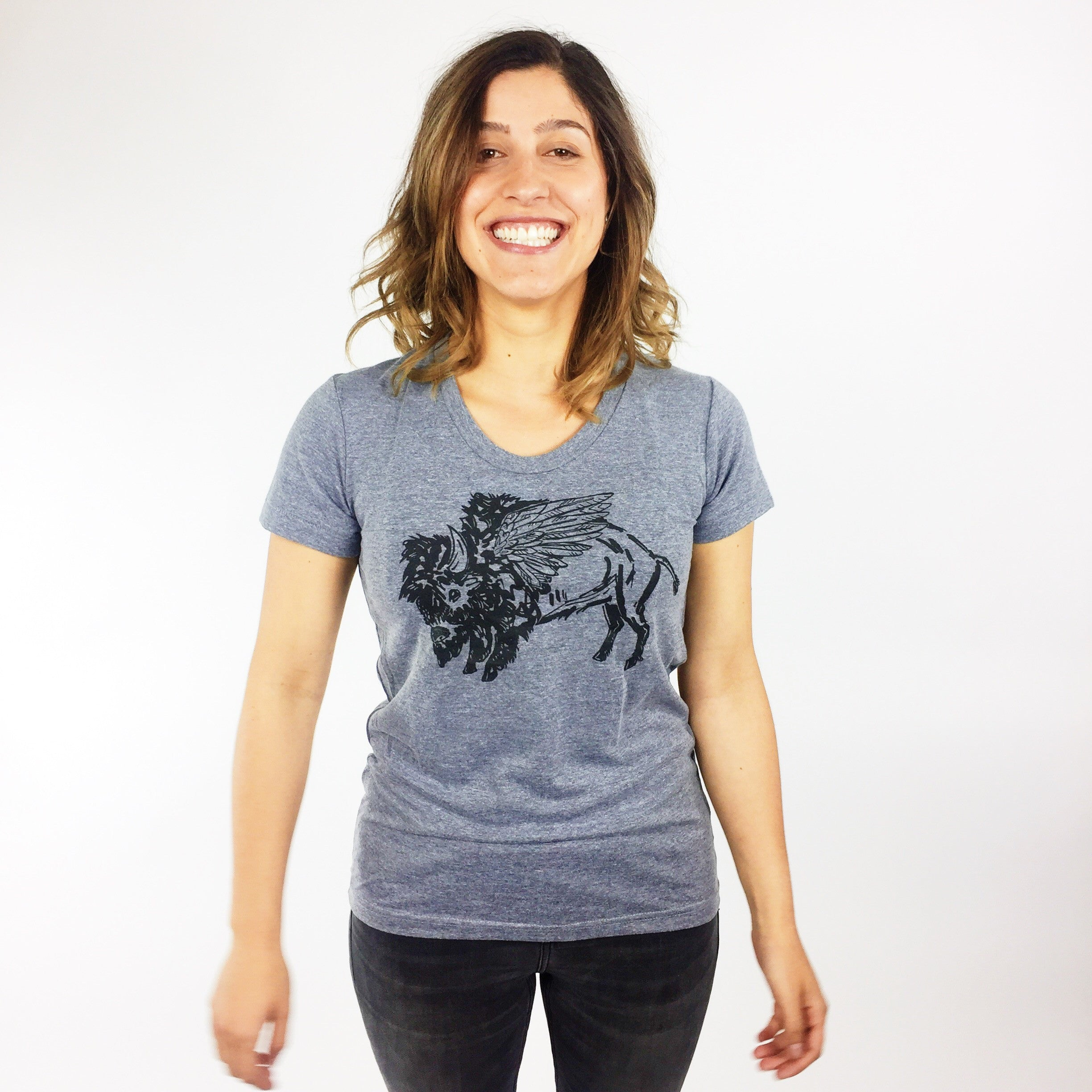 Ladies Crew Neck - Winged Buffalo