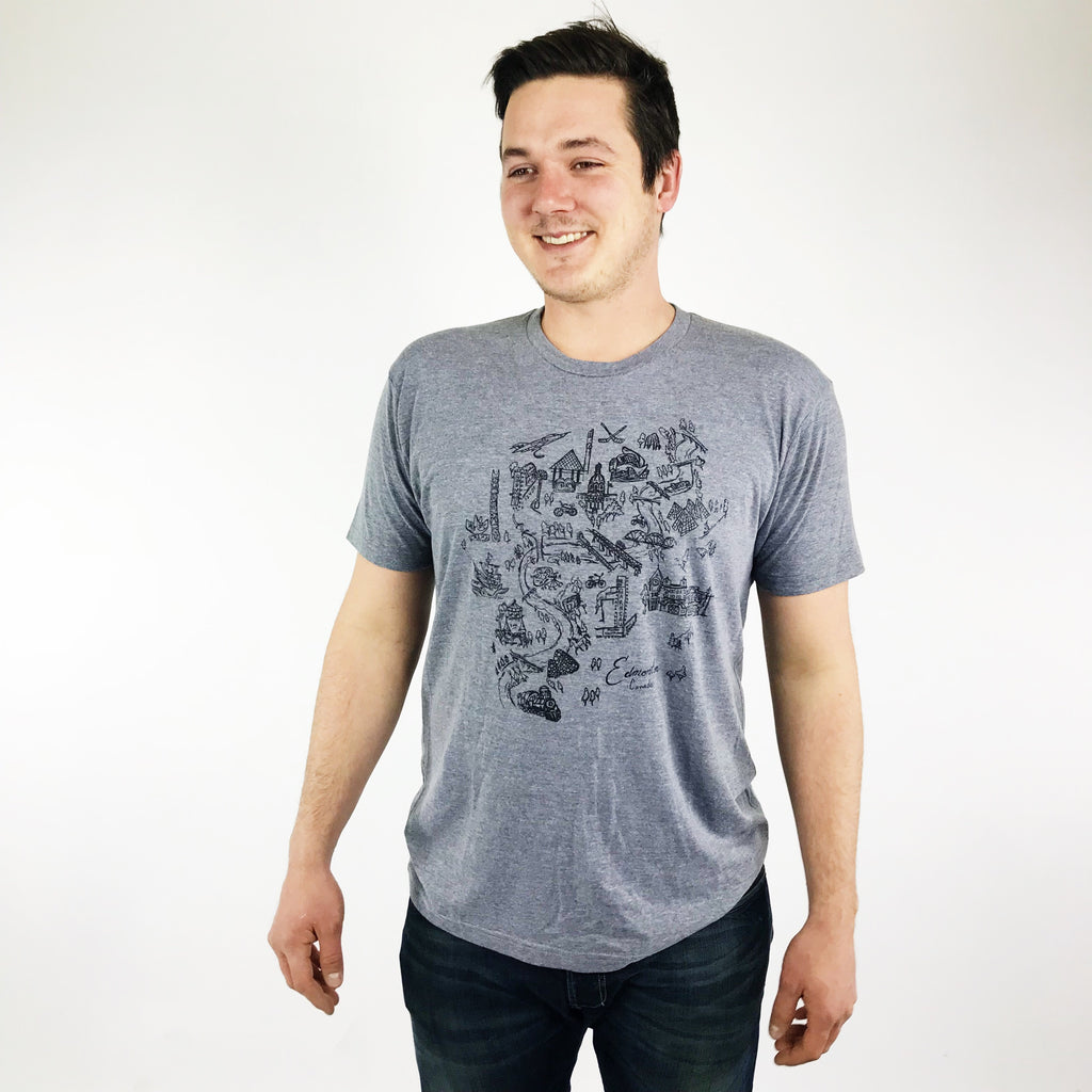 Men's Crew Neck -  Edmonton Map