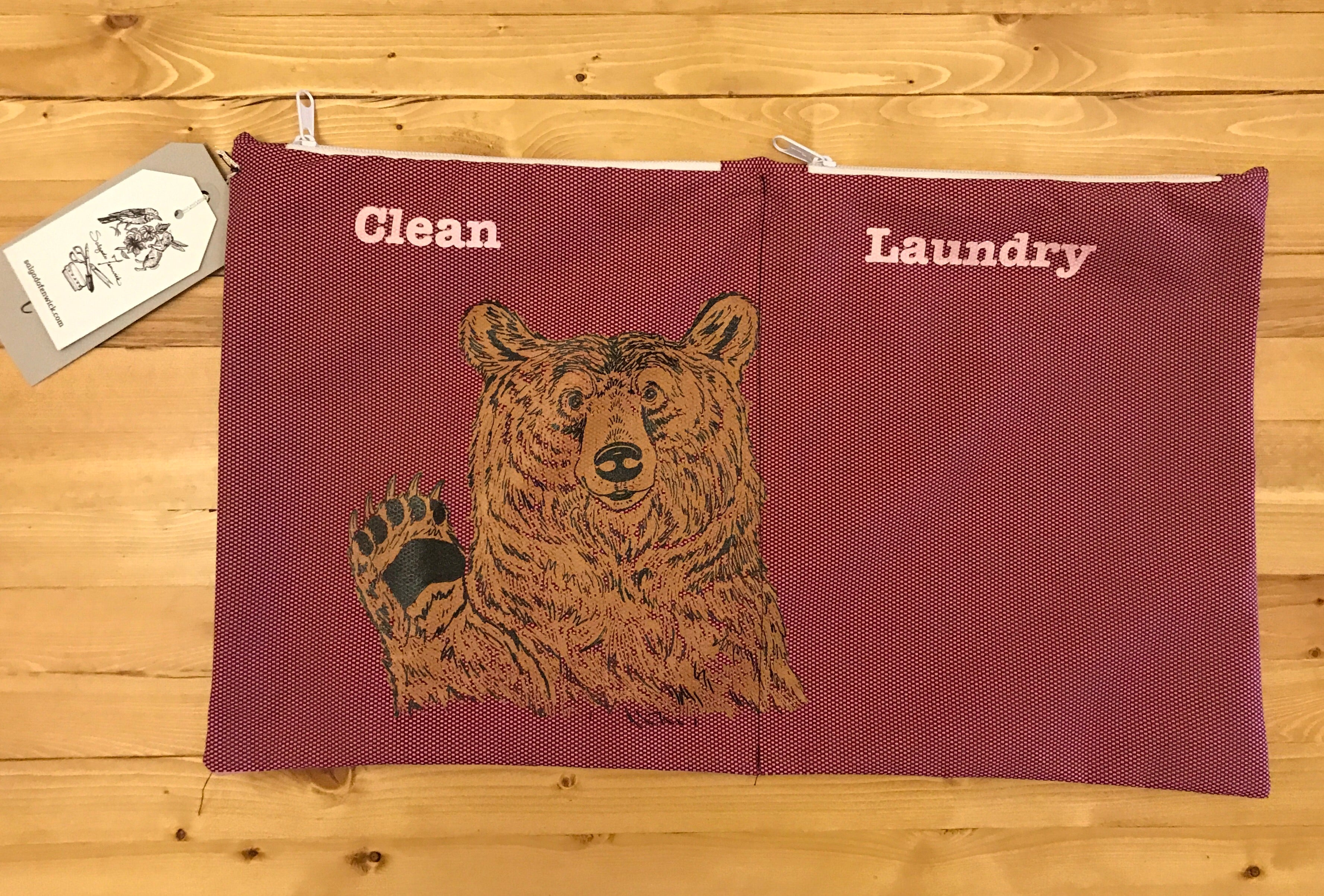 Travel Laundry Bag - Hey bear