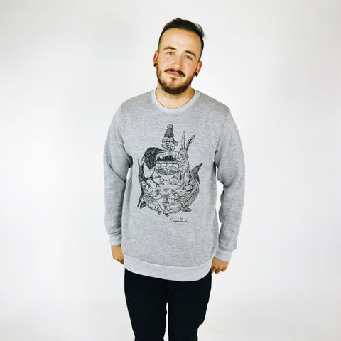 Men's Crew Neck - Where the Buffalo's Home