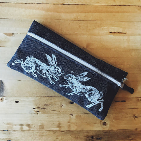 Medium Pencil Case - Rabbit Dance