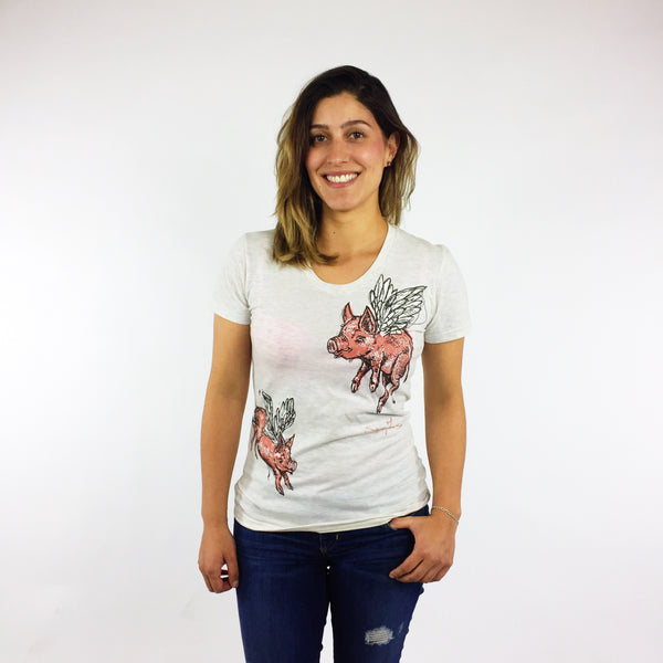 Ladies Crew Neck - When Pigs Fly