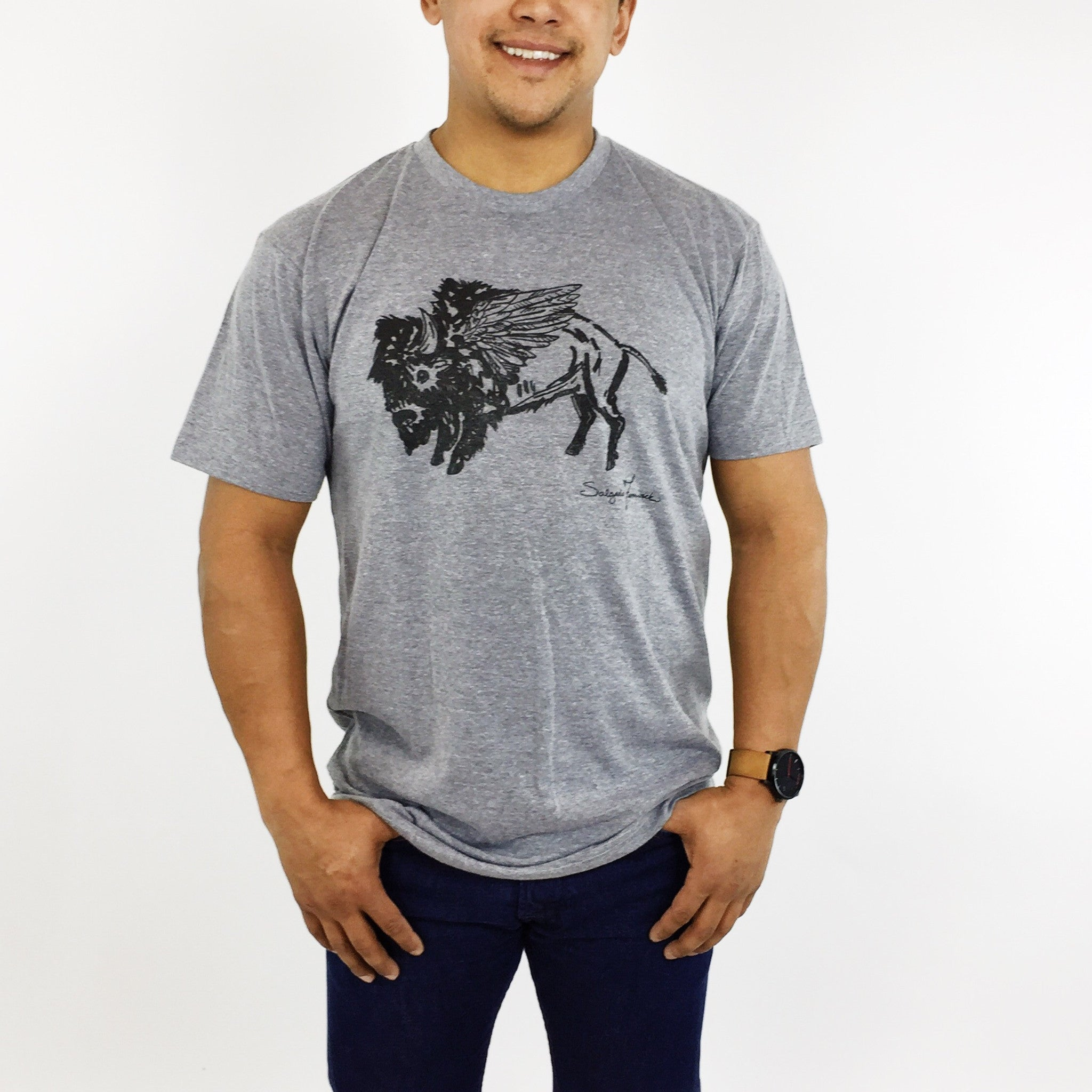 Men's Crew Neck - Winged Buffalo