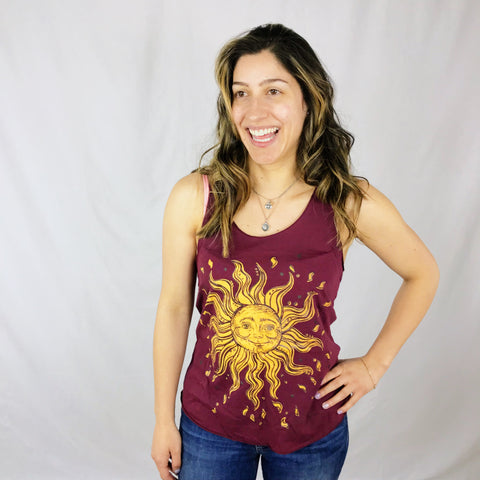 Ladies Flowy Tee - Sunflower and Bee