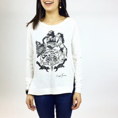 Ladies Crew Neck - Flying Buffalo