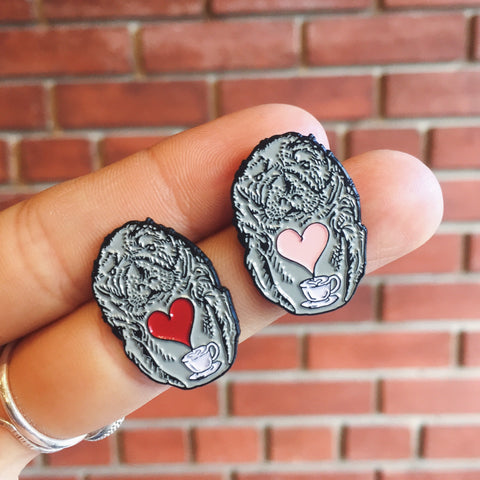 Enamel Pin - Manatee Love