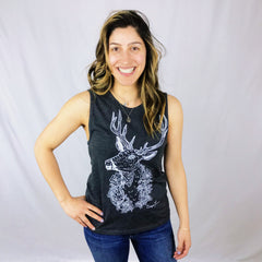Ladies Relaxed Fit Tank - Flowers for my Deer