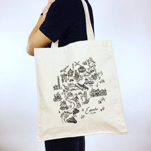 Edmonton Map Tote Bag