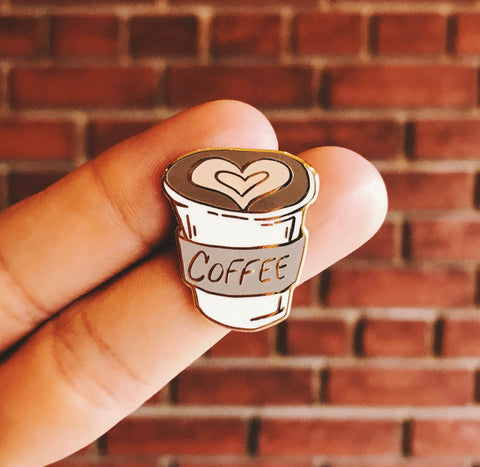 Enamel Pin - Coffee to go!