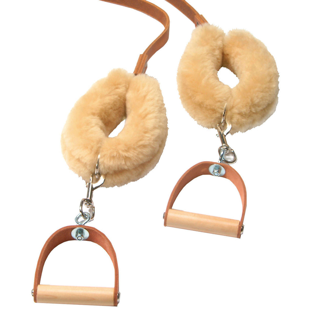 Leather Strap Covers, Sheepskin pair (contact to order)