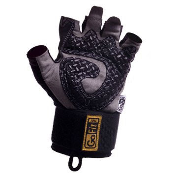 Training Glove with Wrist Strap (Black - Large)