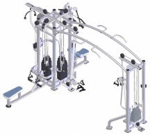 ULT9028	ULTIMATE 5 STATION MULTI GYM (200LBS X 5)