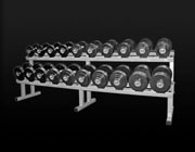 8 Pair Double Tier Dumbell Rack (Ex Demo 1 ONLY)