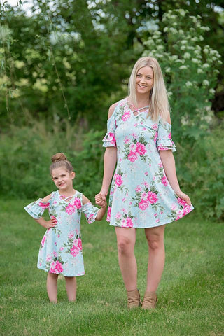 MOMMY AND ME MATCHING FLORAL TUNIC
