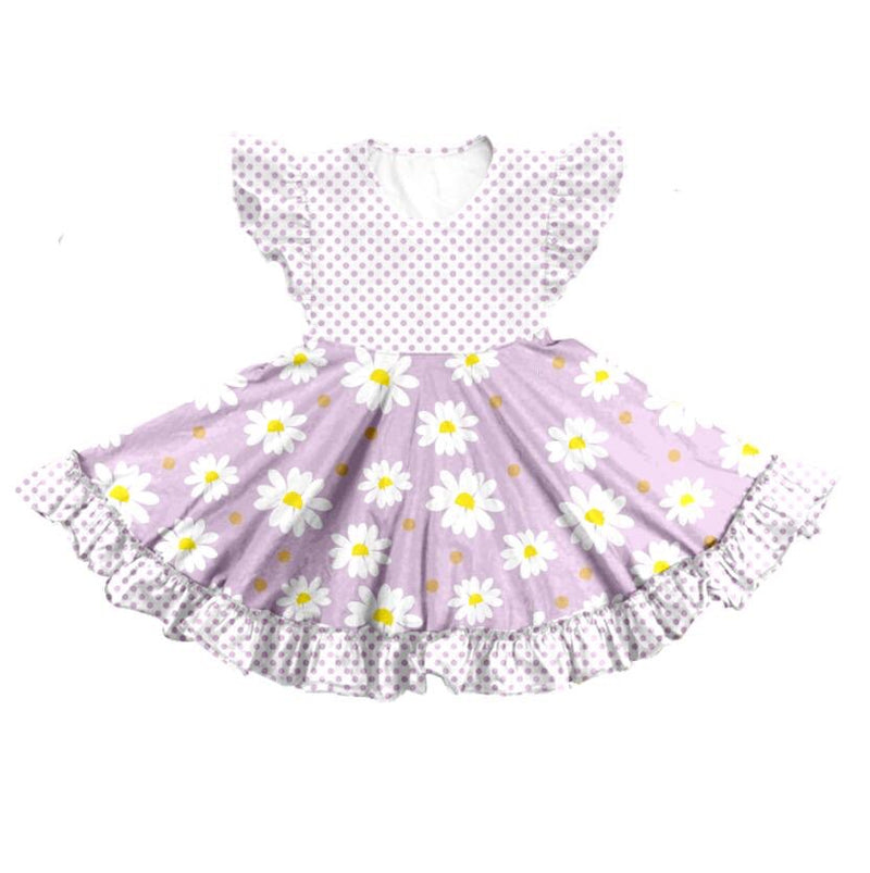 DAISIES TWIRL DRESS - PURPLE - PREORDER