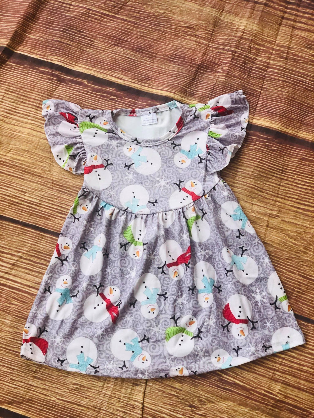 SNOWMAN MILK SILK DRESS