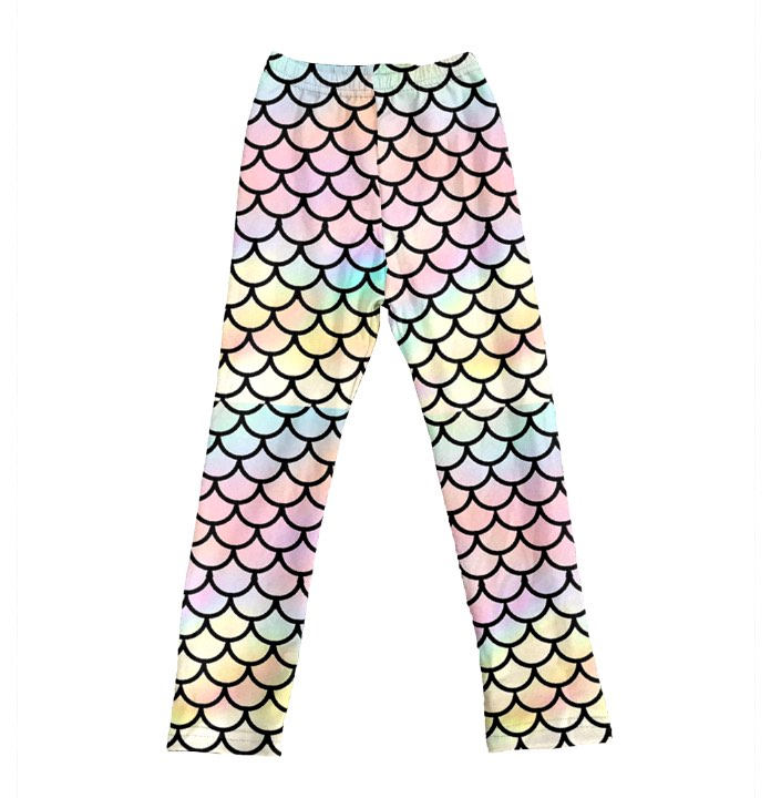 PASTEL RAINBOW MERMAID LEGGINGS - PREORDER