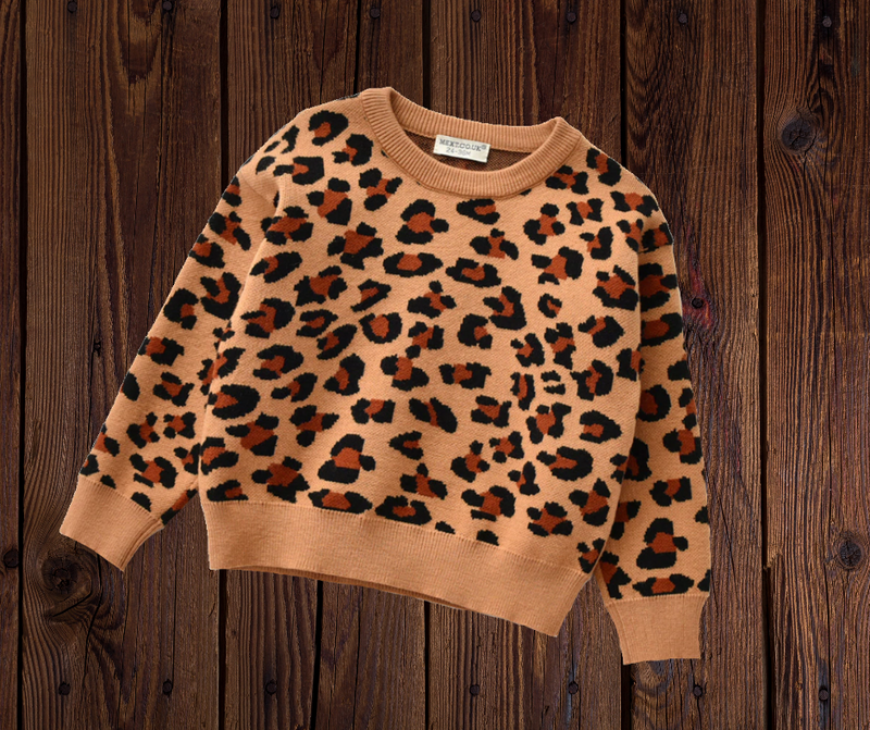 ANIMAL PRINT SWEATER - BROWN PRESALE