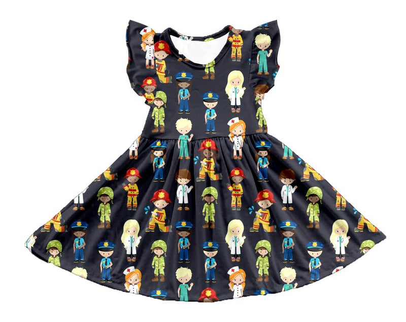 OUR HEROES TWIRL DRESS  - PREORDER
