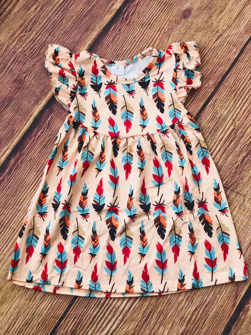 FEATHER PEARL DRESS