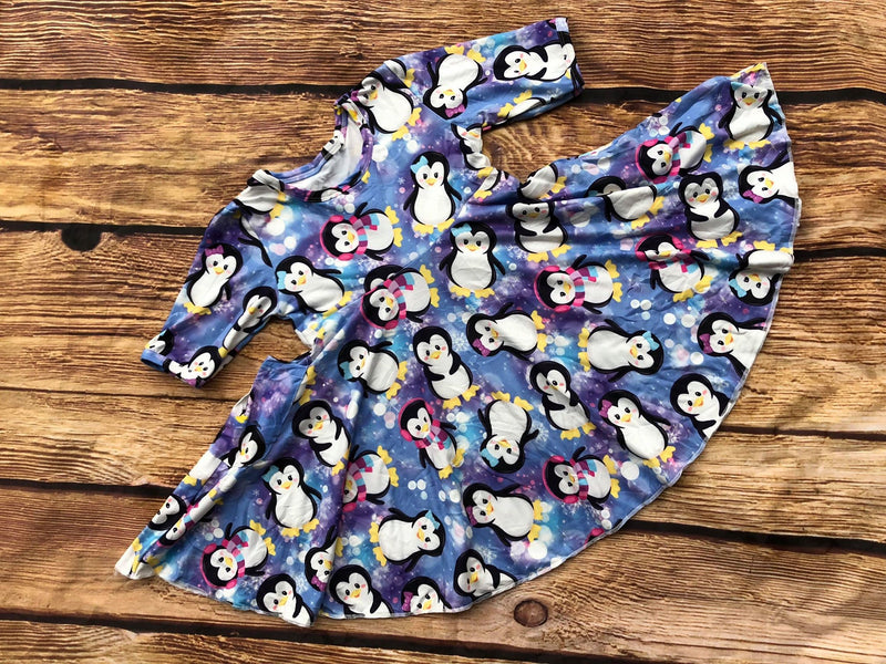 PENGUIN TWIRL DRESS WITH POCKETS PREORDER