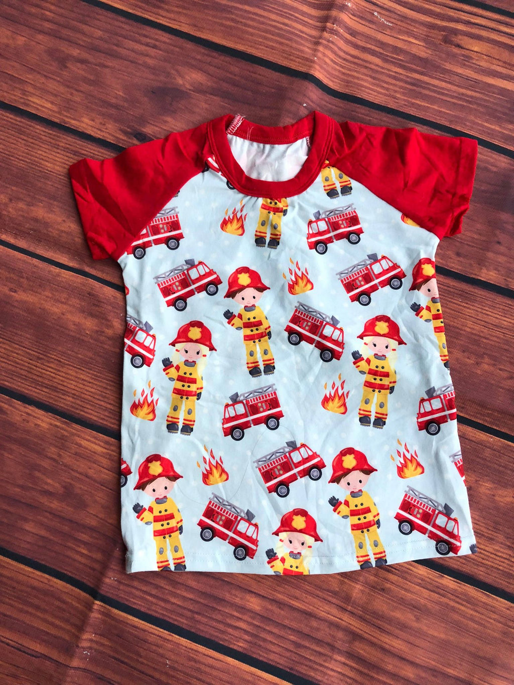 FIRE FIGHTER RAGLAN - UNISEX