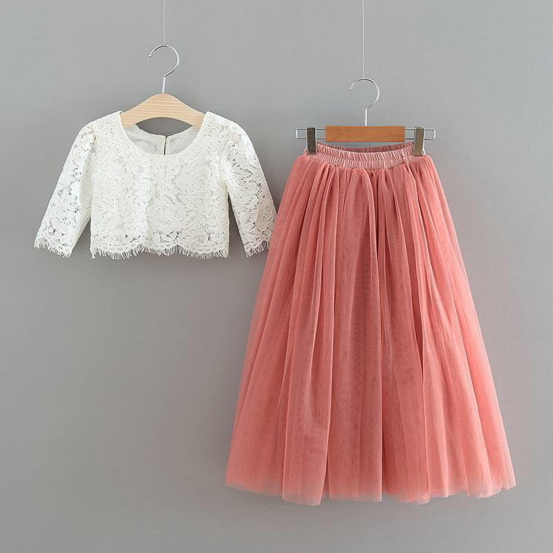 PARIS TOP AND SKIRT - DUST ROSE