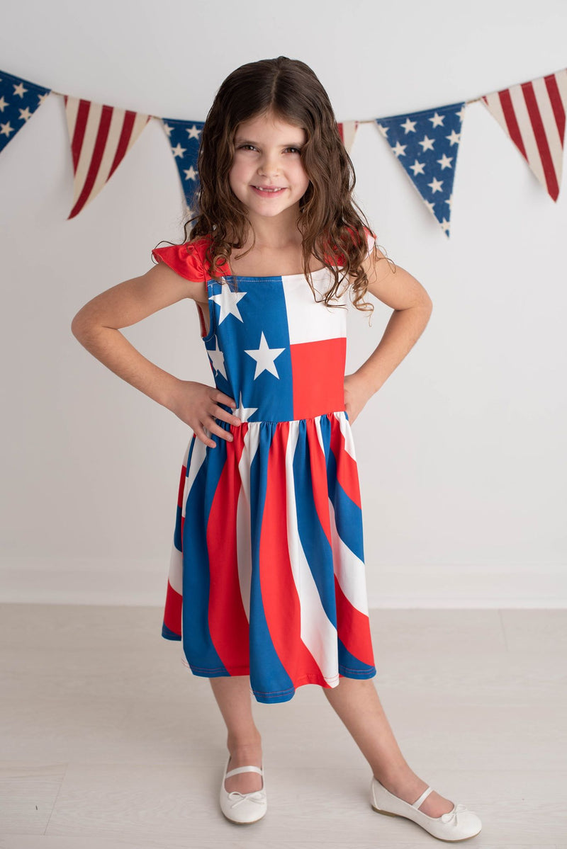 MACKENZIE PATRIOTIC TWIRL DRESS