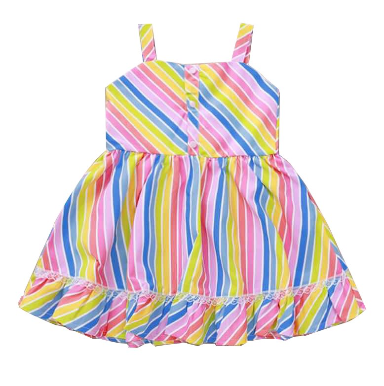 RAINBOW STRIPE DRESS