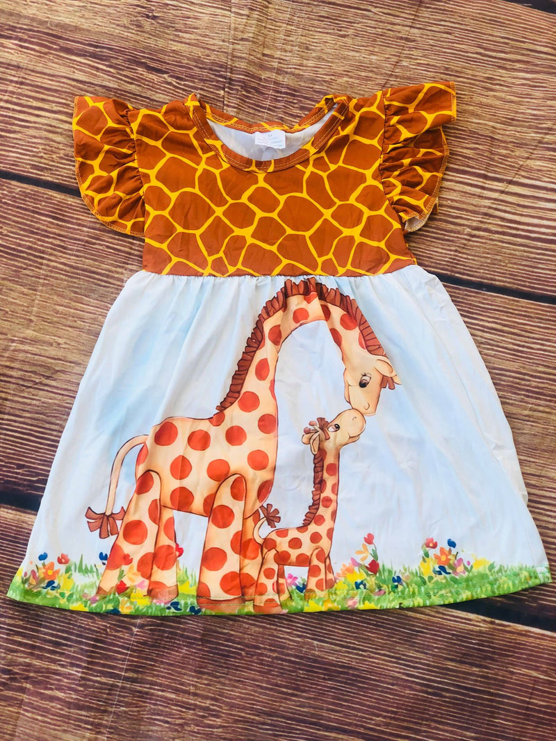 MOMMY & BABY GIRAFFE DRESS