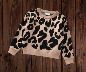 ANIMAL PRINT SWEATER - LIGHT BROWN PRESALE