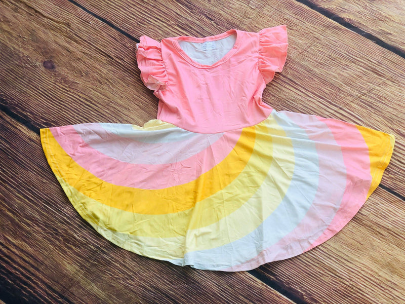 CHARLOTTE TWIRLY RAINBOW DRESS