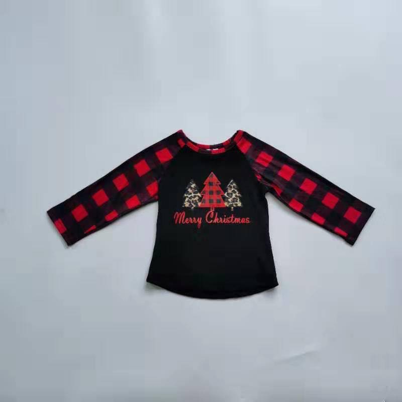 PLAID TREE RAGLANS
