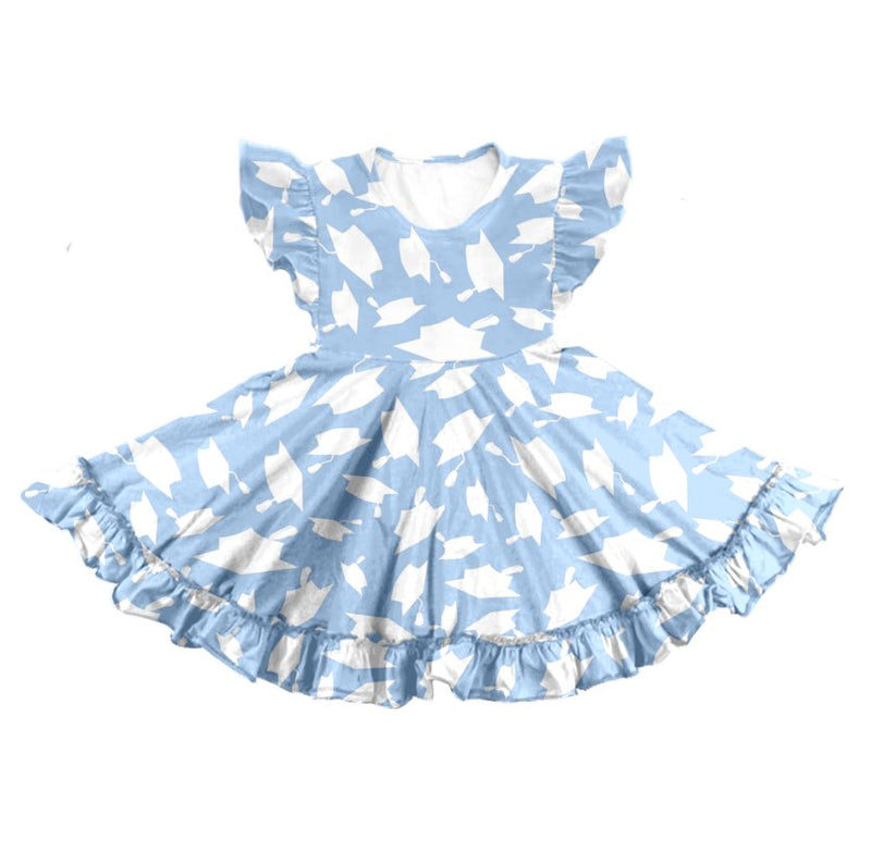 GRADUATION TWIRL DRESS - BLUE
