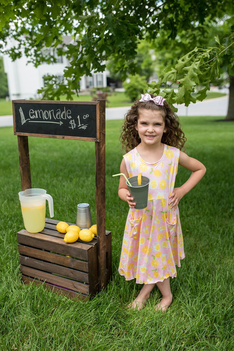 LEMONADE TWIRL DRESS WITH POCKETS