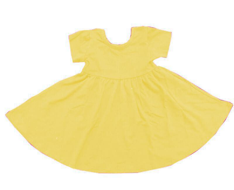 YELLOW MILK SILK TWIRLY DRESS WITH POCKETS PREORDER
