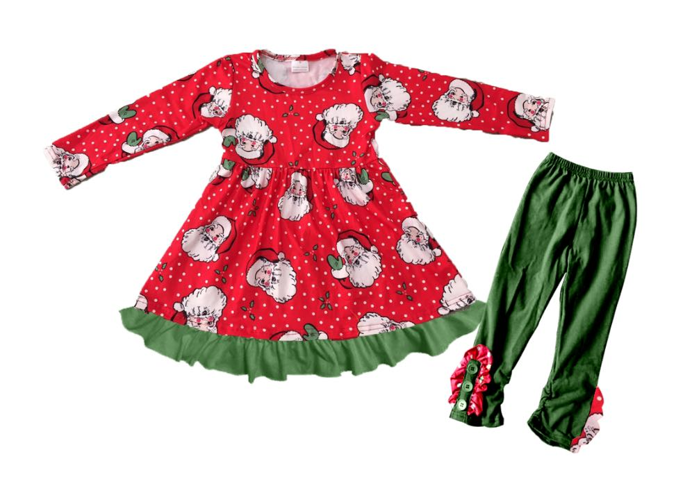CHRISTMAS SANTA DRESS & LEGGINGS SET