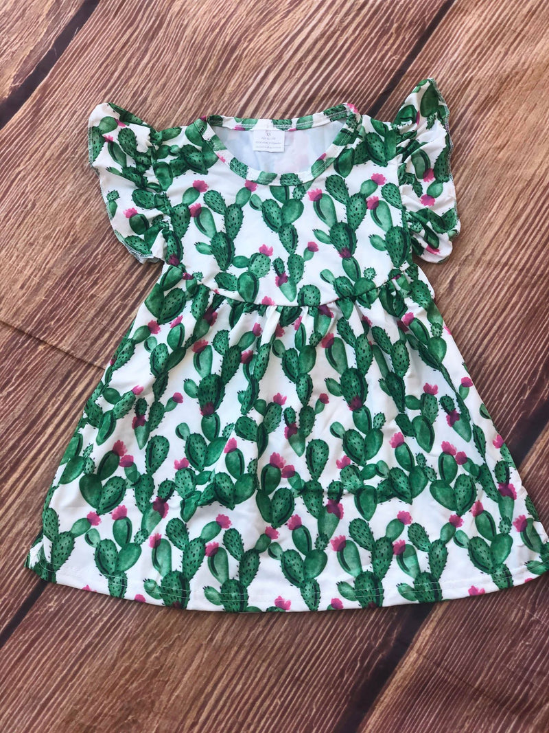 CACTUS MILK SILK DRESS