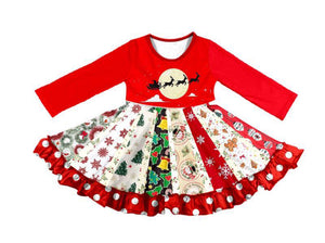 CHRISTMAS TWIRL LONGSLEEVES DRESS