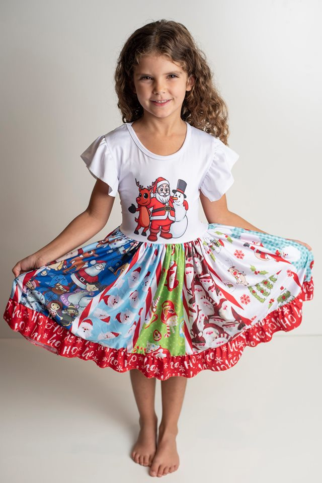 CHRISTMAS TWIRL DRESS